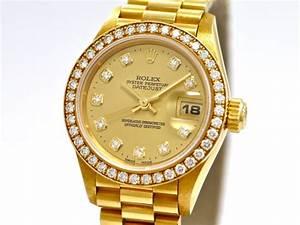 Rolex Uhr Herren Gold : rolex lady datejust ref 69138 18k yellow gold original diamond bezel and dial ~ Frokenaadalensverden.com Haus und Dekorationen