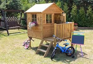 Spielhaus Holz Garten : baumotte spielhaus holz kinderspielhaus donatello ~ Articles-book.com Haus und Dekorationen
