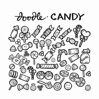 Candy Doodle Freepik Premium Drawn Hand Drawing
