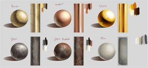 reference digital painting textures reference metals syberstudies digital tutorials