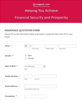 Together, we strive to help every client live healthier, longer and better lives. PHILAM LIFE INSURANCE QUOTATION Form Template | JotForm