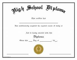 Printable homeschool diploma template pictures to pin on for Free printable high school diploma templates