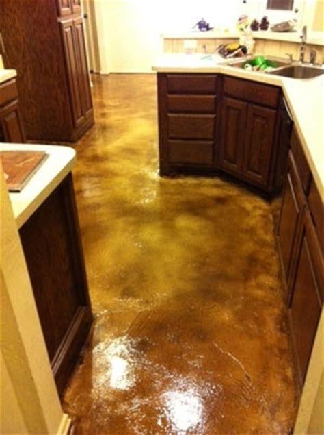 concrete kitchen floor 1000 images about refinish concrete floors on 2427