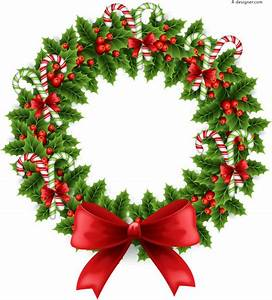 4-Designer | Beautiful Christmas wreath illustrator vector ...