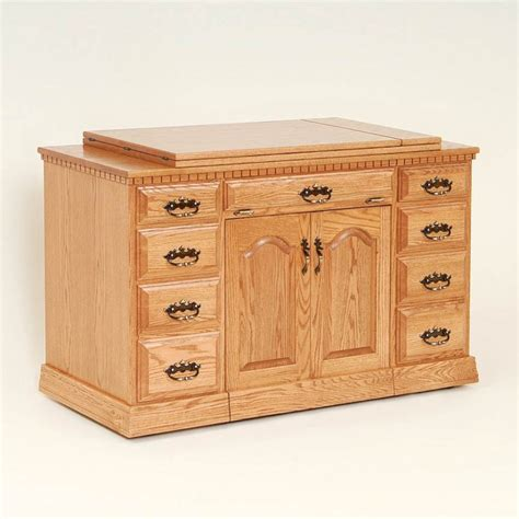 wooden sewing cabinet furniture double pedestal sewing cabinet solid wood and amish