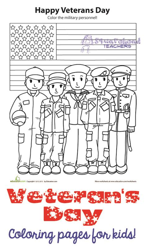 veteran s day coloring pages activities for