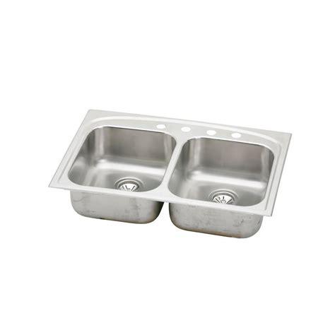drop in stainless steel kitchen sinks elkay pergola drop in stainless steel 33 in 4 9626