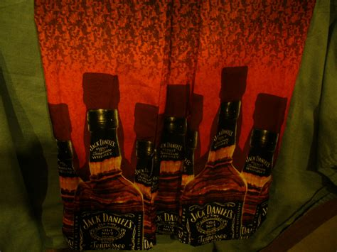 Mens Jack Daniels Old No.7 Whiskey Bottle Camp Shirt By