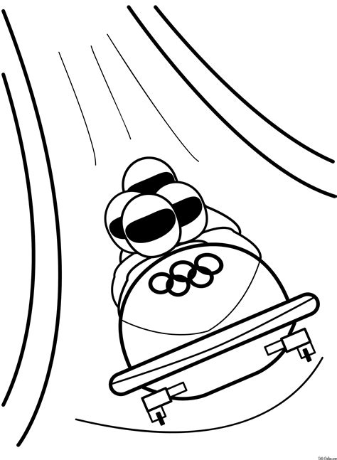Раскраска бобслей | Раскраски Олимпиада