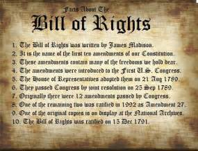 10 Amendments Bill of Rights