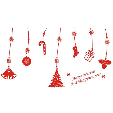 merry xmas decal christmas decorations window stickers new