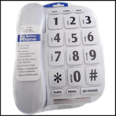 johnson controls help desk phone number big button white telephone corded hands free speakerphone
