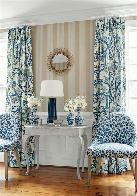peacock garden    wallpaper  thibaut tm interiors