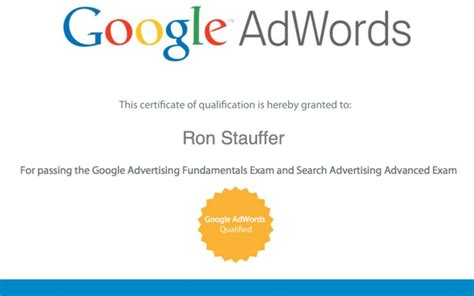 Adwords Certification by Adwords Certification Stauffer