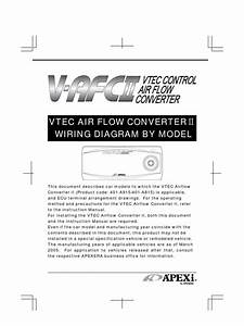 Apexi Installation Instruction Manual  Wiring Diagram Vtec