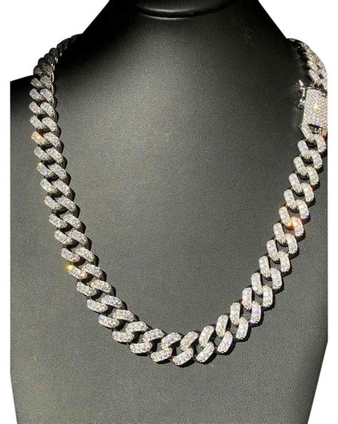 mm mens miami cuban link chain real solid  sterling