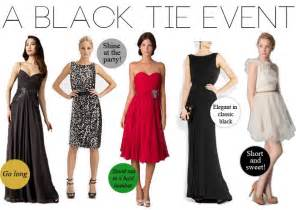 black tie event dress guide for women source http www