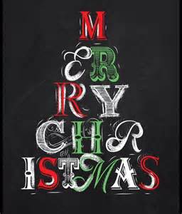 Merry Christmas Chalkboard Quotes