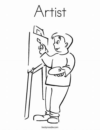 Coloring Artist Pages Artwork Worksheet Colouring Template
