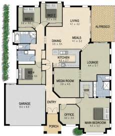 home plans with in suites australian house plan 4 bedroom study lounge media room