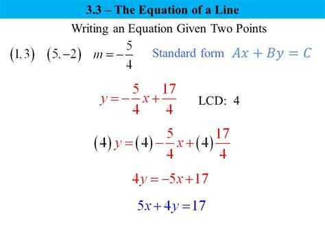 writing linear equations given two points worksheet kuta tessshebaylo