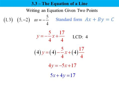 Three Forms Of An Equation Of A Line  Ppt Video Online