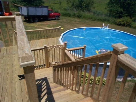 find  ground pool deck pictures  multi level deck
