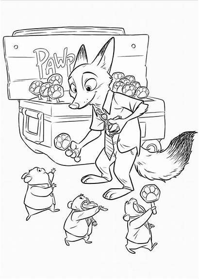 Coloring Pages Zootopia Zootropolis Trailers