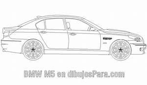 Auto BMW M5 para colorear Dibujos de Autos para Pintar Dibujos para Colorear