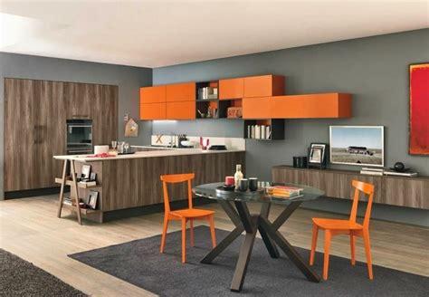 cuisine couleur orange cuisine chene clair couleur mur meilleures images d