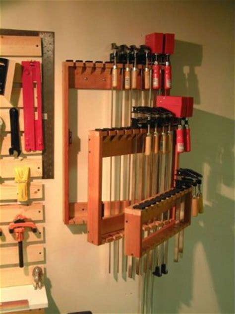 space saving bar clamp racks plans   shop