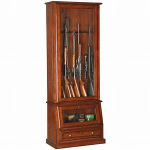 American Furniture Classics 898 Wood 12-Gun Cabinet with