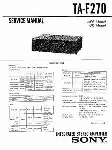 Sony Ta-f270 Service Manual