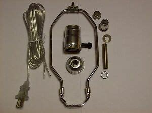 Table Lamp Wiring Kit With Way Socket Harp Silver