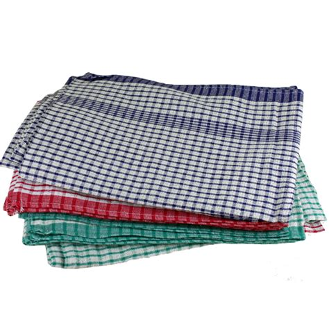 tea towels cotton checked fd  chaucer solutions