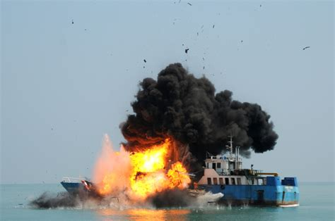 Fishing Boat Explosion by Indonesia S Explosive Response To Illegal Fishing Is