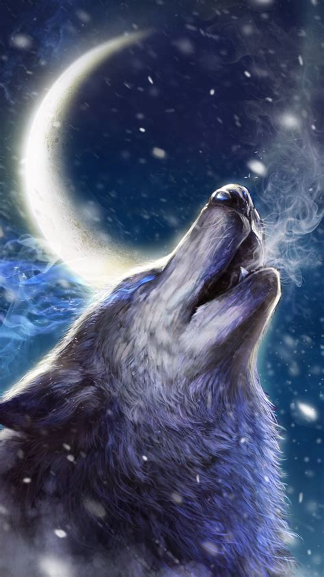 Animal Live Wallpaper - howling wolf live wallpaper android live wallpapers