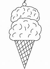 Ice Cream Coloring Pages Printable Cone Template Printables Sheets Clip Cones Templates Clipart Print Parlor Library Food Activity Popular sketch template