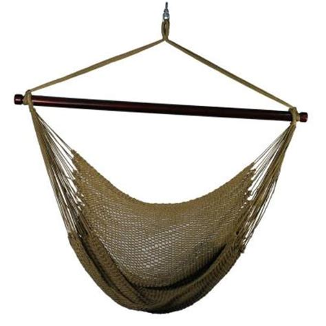 algoma 44 in polyester rope hanging chair in 4913t