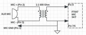 Studio Mic  Balanced Xlr  To Ft847  Unbalanced  Input