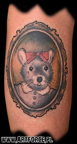 arm fantasy mirror mouse tattoo  art force tattoo
