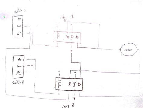 Relay Limit Switches Control Motor Direction