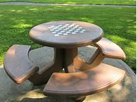 outdoor chess table chess picnic table | Outdoor in 2019 | Chess, Garden ...