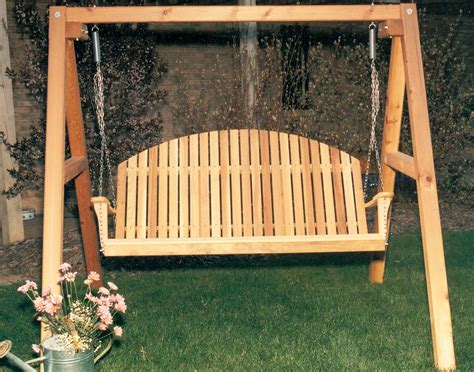 porch swing with stand cedar blue mountain fanback porch swing w stand