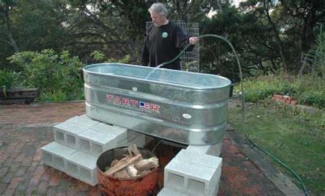 trough bathtub diy make a solar tub in one day for 300 tubs tubs