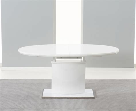 Lexi White High Gloss Oval Extending Dining Table 16m2m