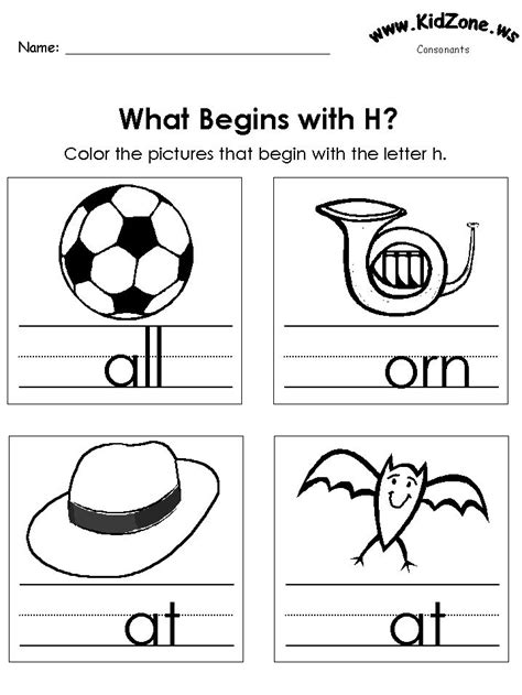 22 Best Images About Consonanats Worksheets On Pinterest
