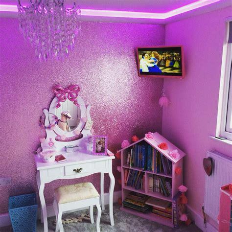pink glitter wallpaper playroom   girl room