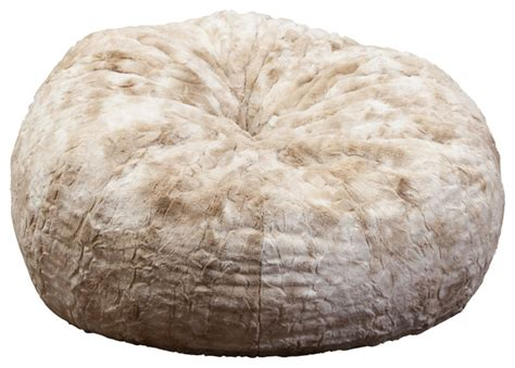 Rosella 3 Foot Fur Bean Bag American Furniture Warehouse Living Room Rugs Modern Divider Paint Color Ideas For With Brown Upholstered Swivel Chairs Idea How To Decorate Pop Designs In Nigeria Alessandro Leather Sectional Collection French Design