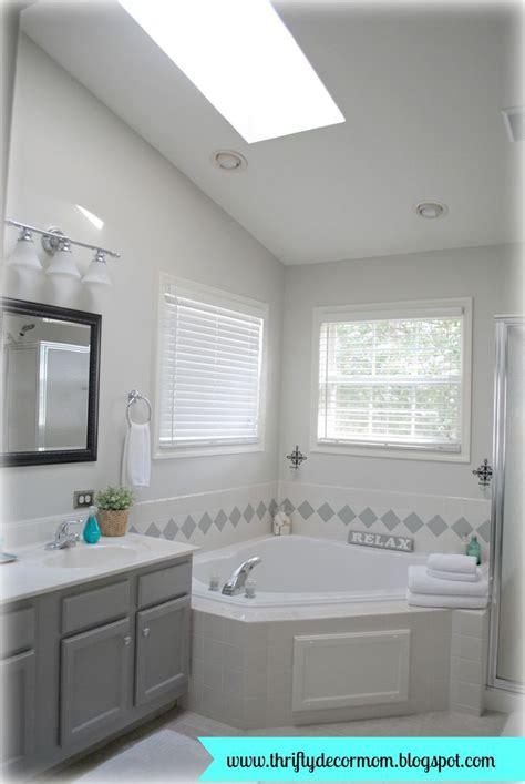 Gray And Aqua Bathroom by Gray White And Aqua Master Bathroom